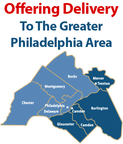 Service Philadelphia, Bucks, Montgomery, Delaware, Chester, Mercer, Camden, Burlington, and Gloucester Counties